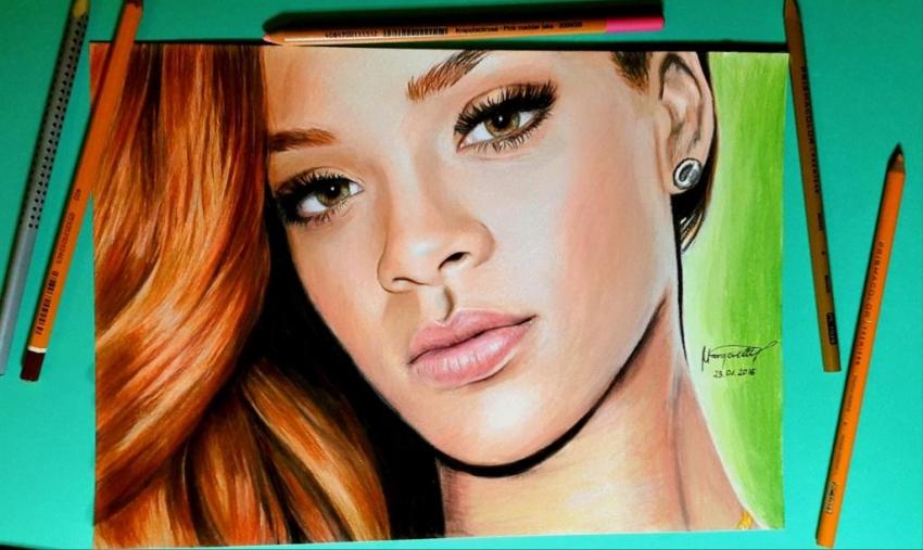 Rihanna by artbymargarettt